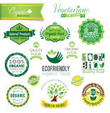 Biological and Natural Farm Fresh crests, icons an Royalty Free Stock Images