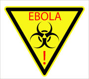 Biological sign of Ebola virus Royalty Free Stock Photography