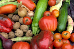 Biologically greengrocer on the corner Royalty Free Stock Image