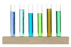 Biologiczna próbki analiza przedstawiająca na drewnianym stojaku Fotografia Royalty Free