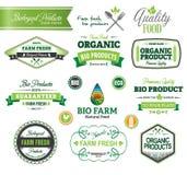 Biologiczni i Naturalni Rolni Świezi grzebienie, ikony Zdjęcia Stock