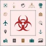 Biologiczny zagrożenie znak ilustracji