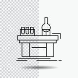 Biologie, chemie, laboratorium, laboratorium, productielijnpictogram op Transparante Achtergrond Zwarte pictogram vectorillustrat vector illustratie
