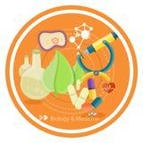 Biologie en geneeskunde royalty-vrije illustratie