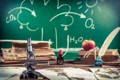 Biologie et photosynthèse de leçon Image stock
