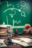Biologie et photosynthèse de leçon de vintage Image libre de droits