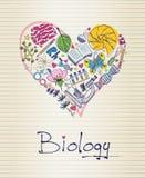 Biologie in Form des Herzens Lizenzfreies Stockfoto