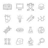 biologie Vector pictogrammen Royalty-vrije Stock Fotografie