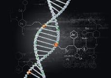 Biologie, wetenschap en medisch technologieconcept stock afbeelding
