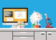 Biologiewissenschafts-Bildungsausrüstung Stockbilder