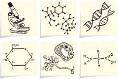 biologii chemii ikon notatka wtyka kolor żółty Zdjęcie Royalty Free