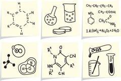biologii chemii ikon notatka wtyka kolor żółty Fotografia Stock