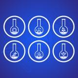 Biologii ikony ilustracja wektor