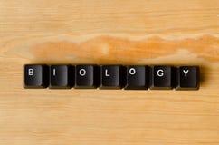Biologii słowo Zdjęcie Stock