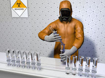 Biologisch experiment Royalty-vrije Stock Afbeeldingen