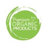 Biologisch productkenteken, uitstekend etiket met hand getrokken van letters voorziende Natuurlijke schoonheidsmiddelen Stock Afbeeldingen