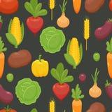 Biologisches Lebensmittel - nahtloser Hintergrund Stockfotos