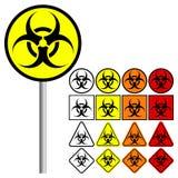 Biologiska faror & x28; Biohazard & x29; - vektorillustration Royaltyfri Fotografi