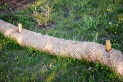 Biologiskt nedbrytbar vakt för socka för erosionkontrollsugrör Arkivbilder