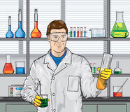 Biologist in the laboratory Stock Photography