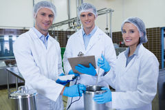 Biologist team smiling at camera Royalty Free Stock Photography