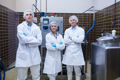 Biologist team standing smiling with arms crossed Royalty Free Stock Photo