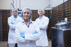 Biologist team standing smiling with arms crossed Stock Images