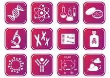 Biologivetenskapssymboler Arkivbild