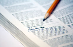 Biology. Homework and course work for college Royalty Free Stock Photo