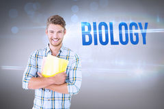 Biology against grey vignette Royalty Free Stock Photo