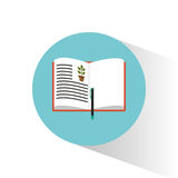 Biology book learning pen school. Vector illustration eps 10 Royalty Free Stock Photography