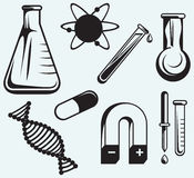 Biology, chemistry and physics Royalty Free Stock Images