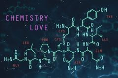Biology concept. Abstract chemical formula background. Biology concept. 3D Rendering Stock Photo