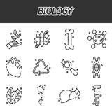 Biology concept icons Royalty Free Stock Photo