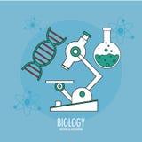 Biology design. Lab icon. Flat illustration, vector Stock Photography