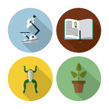 Biology design. Lab icon. Flat illustration, vector Stock Image