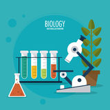 Biology design. Lab icon. Flat illustration, vector Royalty Free Stock Images