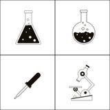 Biology design. Lab icon. Flat illustration, vector Stock Photos