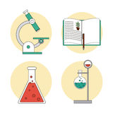 Biology design. Lab icon. Flat illustration, vector Stock Image