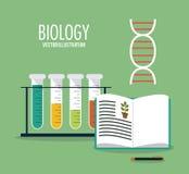 Biology design. Lab icon. Flat illustration, vector Royalty Free Stock Photos