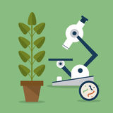 Biology design. Lab icon. Flat illustration, vector Royalty Free Stock Photography