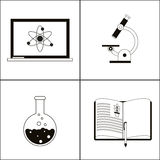 Biology design. Lab icon. Flat illustration, vector Royalty Free Stock Photo