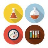 Biology design. Lab icon. Flat illustration, vector Stock Images