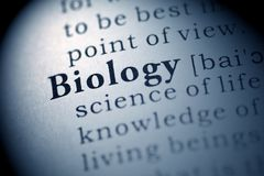 Biology. Fake Dictionary, Dictionary definition of the word Biology stock photo