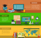 Biology and geography online study and science Royalty Free Stock Image