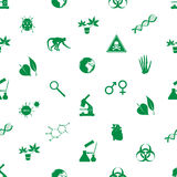 Biology icons seamless pattern Stock Photography