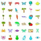 Biology icons set, cartoon style. Biology icons set. Cartoon style of 36 biology vector icons for web isolated on white background Stock Photos