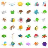 Biology icons set, isometric style Stock Photo