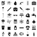 Biology icons set, simple style Royalty Free Stock Images