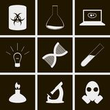 Biology icons. Set of icons on a theme Biology Royalty Free Stock Photos